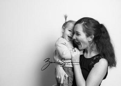 black-and-white-studio-portrait-mum-one-year-old